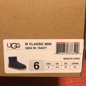 Ugg mini boot- fleece lined- Size 6 - Navy